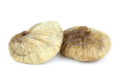 Traditional Turkish sun dried fig isolated on white background Royalty Free Stock Photography