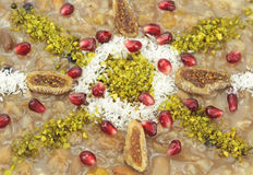 Traditional Turkish sweet  Ashura ( Noah's pudding ) Stock Photo