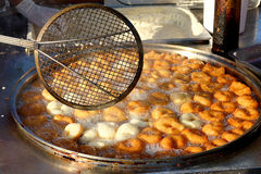 Traditional Turkish Sweet Pastry Frying Stock Images