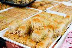 Traditional Turkish sweets Royalty Free Stock Photography