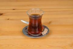 Traditional Turkish tea. With brown sugar Stock Photography