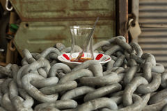 Traditional Turkish tea glass Royalty Free Stock Photos