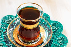 Traditional Turkish tea in glasses Royalty Free Stock Photos