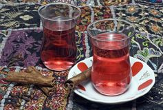 Traditional Turkish Tea Stock Photography