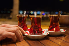 Traditional Turkish tea Stock Images