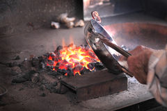 Traditional Turkish tinsmith or coppersmith Stock Photography