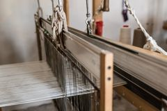 Traditional Turkish Weaving Loom stock image