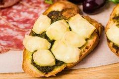 Traditional tuscan antipasto platter closeup. Royalty Free Stock Photography