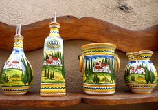 Traditional Tuscan Ceramics Royalty Free Stock Photography
