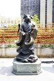 Traditional twelve chinese zodiac angel statue at Wong Tai Sin Temple at Kowloon in Hong Kong, China. Traditional twelve chinese zodiac statue for people travel royalty free stock images