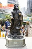 Traditional twelve chinese zodiac angel statue at Wong Tai Sin Temple at Kowloon in Hong Kong, China. Traditional twelve chinese zodiac statue for people travel royalty free stock image