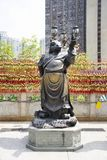 Traditional twelve chinese zodiac angel statue at Wong Tai Sin Temple at Kowloon in Hong Kong, China. Traditional twelve chinese zodiac statue for people travel royalty free stock photos