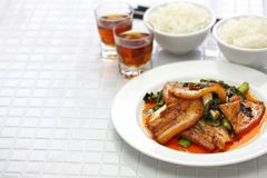 Traditional twice cooked pork. Sichuan style chinese dish Royalty Free Stock Image