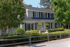 Traditional Two Story Home. Exterior shot of a two story, traditionally styled home that was recently constructed in Northern California Royalty Free Stock Photos