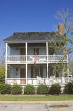 Traditional two-story home. Beaufort, SC stock images