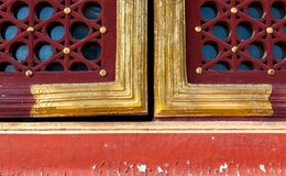 Traditional type of window, heaven temple, Beijing royalty free stock photography