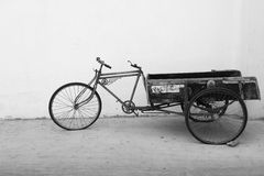 Traditional and typical transport tricycle  Royalty Free Stock Photo
