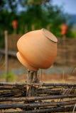 Traditional Ukrainian clay jug Stock Photography