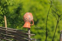 Traditional Ukrainian clay pot Royalty Free Stock Image