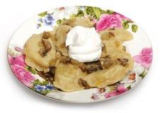 Traditional ukrainian cuisine - vareniks Royalty Free Stock Image