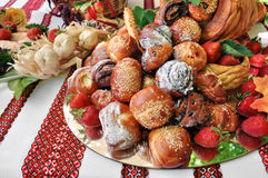 Traditional ukrainian dessert food Stock Photos