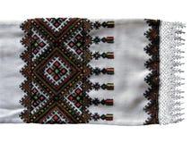 Traditional Ukrainian embroidered towel Stock Photo