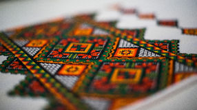 Traditional Ukrainian embroidery Stock Images