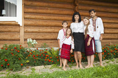 Traditional Ukrainian family Stock Images