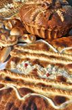 Traditional ukrainian festive bread. Close-up of traditional ukrainian festive bread , vertical composition Stock Image