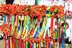 Traditional ukrainian hairbands Royalty Free Stock Images