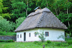 Traditional Ukrainian historical house at museum of Ukrainian folk architecture in Pirogovo village Royalty Free Stock Photos