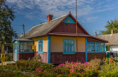 Traditional Ukrainian house Royalty Free Stock Image