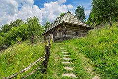 Traditional Ukrainian house. Traditional Ukrainian house in museum Stare Selo Ukraine, Kolochava Stock Photo