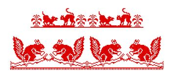 Traditional ukrainian motifs Stock Photo