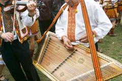 Traditional ukrainian musicians Stock Photos