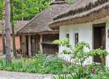 Traditional Ukrainian old residential house. Royalty Free Stock Photography