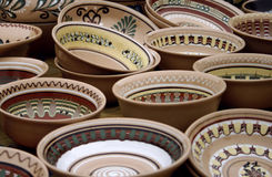 Traditional Ukrainian Pottery. On the Market Stock Image