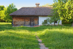 Traditional ukrainian rural house Stock Photo