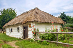 Traditional ukrainian rural house Royalty Free Stock Images