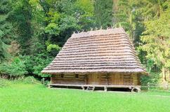 Traditional ukrainian rural house. With a straw roof Stock Images