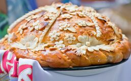 Traditional ukrainian wedding bread Royalty Free Stock Image