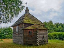 Traditional ukrainian wooden chapel Stock Photography