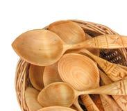 Traditional ukrainian wooden spoons Royalty Free Stock Photos