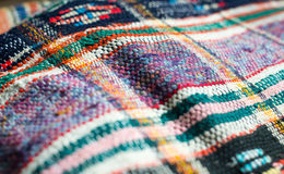 Traditional Ukrainian woven fabric Stock Image
