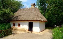 Traditional Ukranian Country House Stock Image