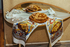 Traditional ukranian wedding loaf Royalty Free Stock Photos