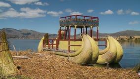 Traditional Uros Reed Boats, Uros Island, Peru
