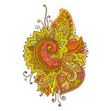 Traditional vector oriental floral ornament with a. Lot of details and different colors Royalty Free Stock Images