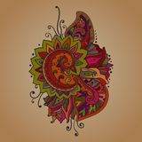 Traditional vector oriental floral ornament with a Stock Photos