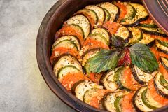 Traditional vegetable ratatouille. royalty free stock photos